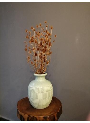 Kuru Çiçek Deposu Boga Dikeni (Eryngium) , Hardal Sarısı Kuru Çiçek Demet Hardal